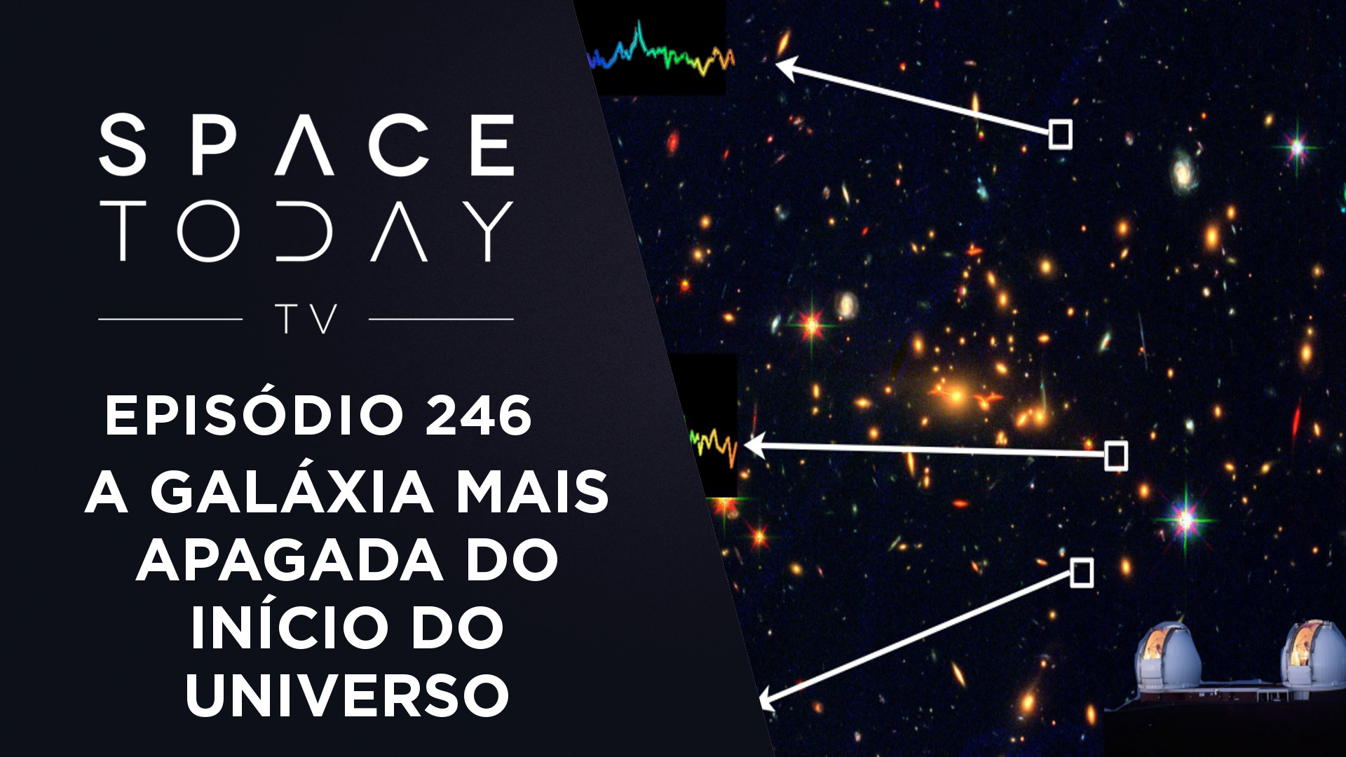 A Galáxia Mais Apagada do Início do Universo – Space Today TV Ep.246